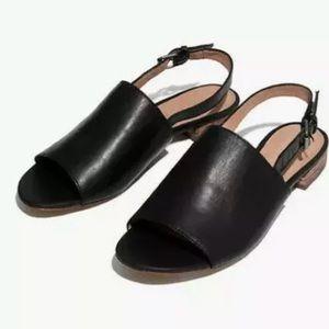 Madewell Noelle Slingback Sandal in Leather Black